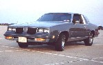 Dark gray 1986 Cutlass Salon