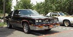 Front shot of a black 1983 Hurst/Olds